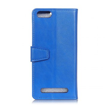 KaZiNe Luxury PU Leather Silicon Magnetic Dirt Resistant Phone Bags Cases for DOOGEE X30 -  BLUE