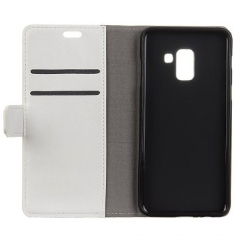 KaZiNe Luxury PU Leather Silicon Magnetic Dirt Resistant Phone Bags Cases for Samsung Galaxy A5 2018 -  WHITE