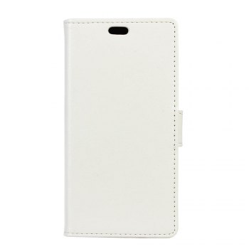 KaZiNe Luxury PU Leather Silicon Magnetic Dirt Resistant Phone Bags Cases for Samsung Galaxy A5 2018 - WHITE WHITE