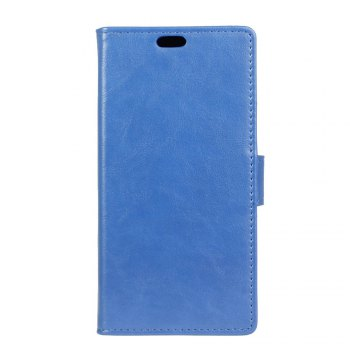 KaZiNe Luxury PU Leather Silicon Magnetic Dirt Resistant Phone Bags Cases for Samsung Galaxy A5 2018 - BLUE BLUE