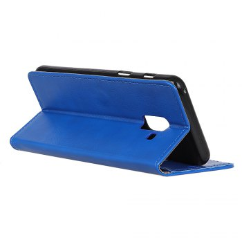 KaZiNe Luxury PU Leather Silicon Magnetic Dirt Resistant Phone Bags Cases for Samsung Galaxy A5 2018 -  BLUE