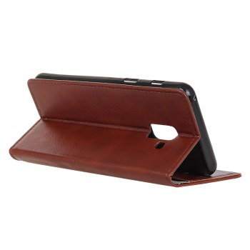 KaZiNe Luxury PU Leather Silicon Magnetic Dirt Resistant Phone Bags Cases for Samsung Galaxy A5 2018 -  BROWN