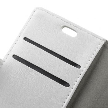 KaZiNe Luxury PU Leather Silicon Magnetic Dirt Resistant Phone Bags Cases for Samsung Galaxy A7 2018 -  WHITE
