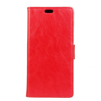 KaZiNe Luxury PU Leather Silicon Magnetic Dirt Resistant Phone Bags Cases for Samsung Galaxy A7 2018 - RED RED