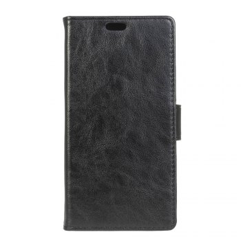 KaZiNe Luxury PU Leather Silicon Magnetic Dirt Resistant Phone Bags Cases for Samsung Galaxy A7 2018 - BLACK BLACK