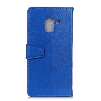 KaZiNe Luxury PU Leather Silicon Magnetic Dirt Resistant Phone Bags Cases for Samsung Galaxy A7 2018 -  BLUE