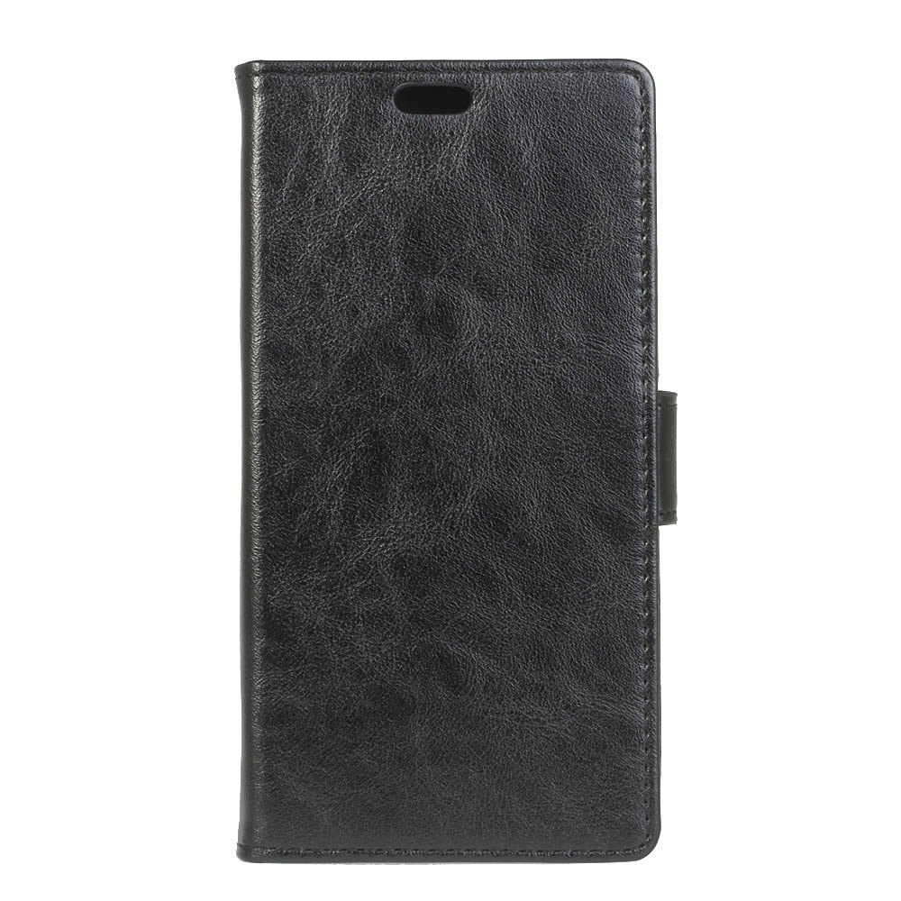 KaZiNe Luxury PU Leather Silicon Magnetic Dirt Resistant Phone Bags Cases for Samsung Galaxy A7 2018 - BLACK