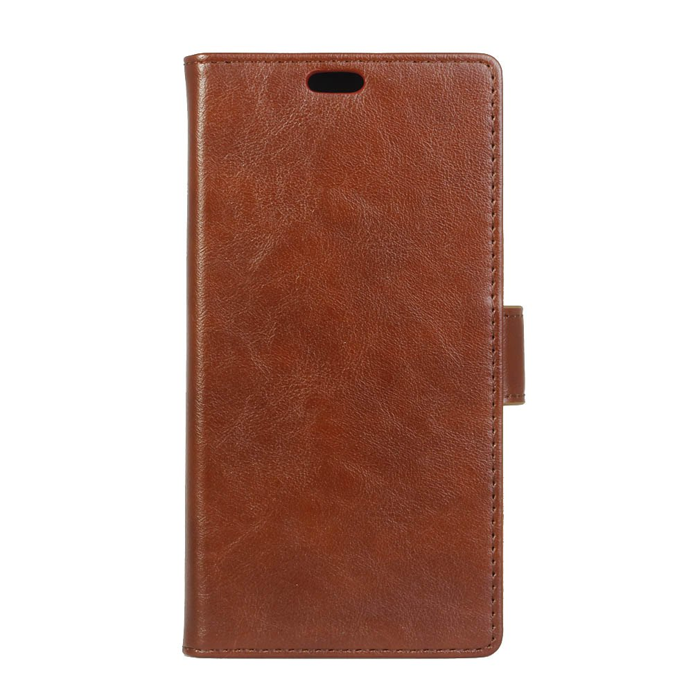 KaZiNe Luxury PU Leather Silicon Magnetic Dirt Resistant Phone Bags Cases for Samsung Galaxy A7 2018 - BROWN