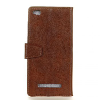 KaZiNe Luxury PU Leather Silicon Magnetic Dirt Resistant Phone Bags Cases for XIAOMI 5A -  BROWN