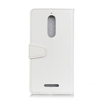KaZiNe Crazy Horse Texture Surface Leather Wallet Case for WIKO VIEW -  WHITE