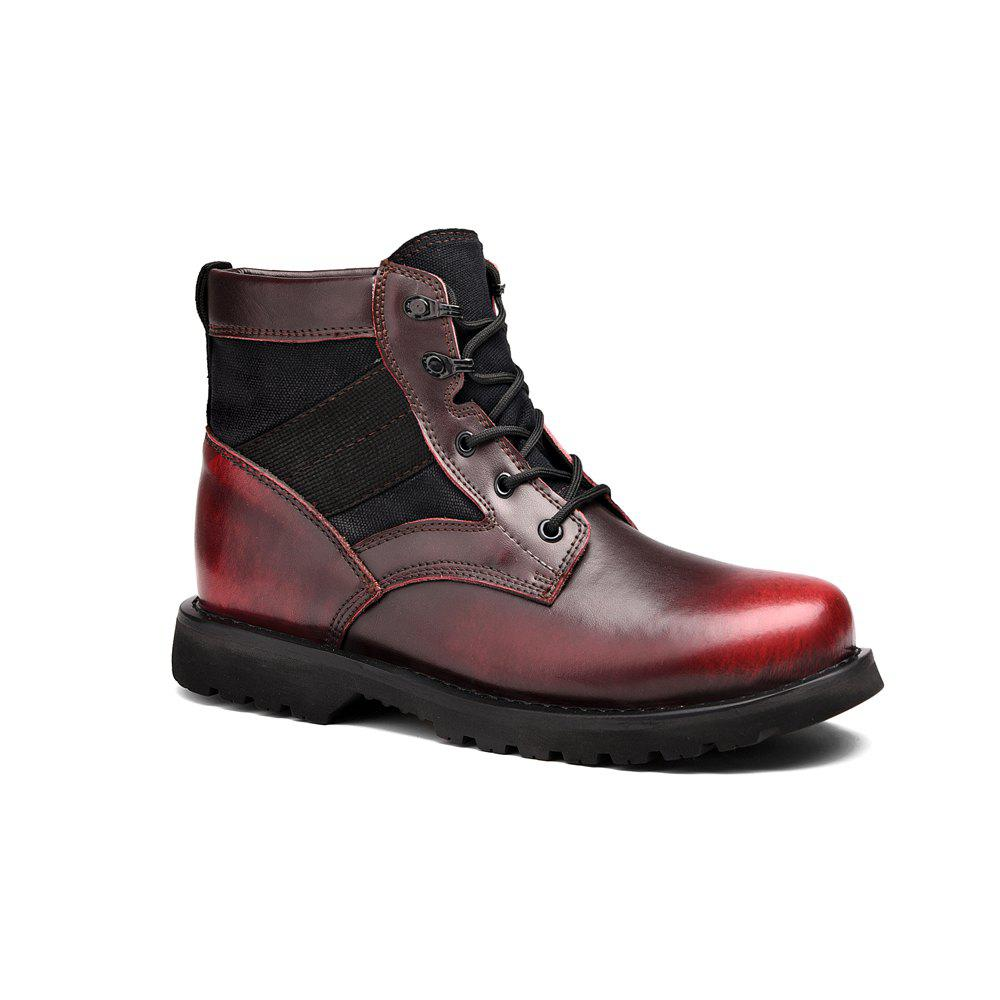 Mode pour hommes ronde tendance Toe Martin Bottes F4cyLeCW