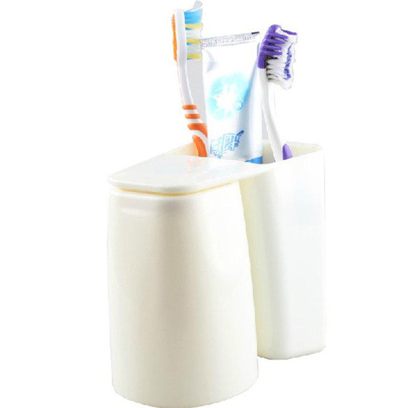 Multifunction Creative Brush Container Toothbrush Cup - WHITE