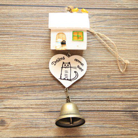Small House Wind Chimes for Home Hanging Decoration - WHITE
