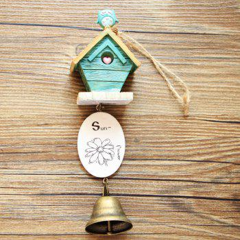 Small House Wind Chimes for Home Hanging Decoration - BLUE BLUE