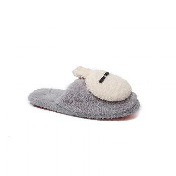 Fashion Home Interior Winter Cartoon Rabbit Warm Slippers - GRAY GRAY
