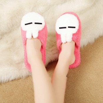 Fashion Home Interior Winter Cartoon Rabbit Warm Slippers - PINK PINK