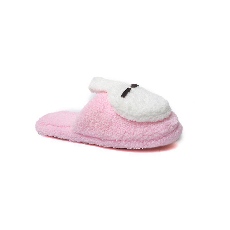 Fashion Home Interior Winter Cartoon Rabbit Warm Slippers - PINK 36