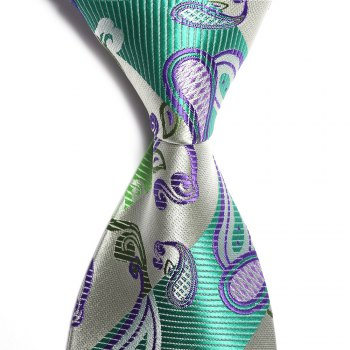 Fashion Social Entertainment Green Business Necktie Jacquard Slim Men's Tie -  GREEN