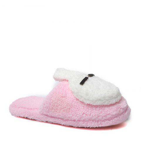 New Cute Soft Bottom Anti Slip Home Cotton Slippers - PINK 37