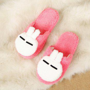 New Cute Soft Bottom Anti Slip Home Cotton Slippers - WATERMELON RED WATERMELON RED
