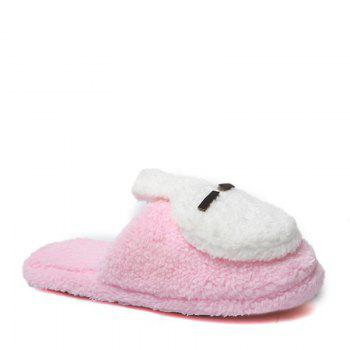 New Cute Soft Bottom Anti Slip Home Cotton Slippers - PINK PINK