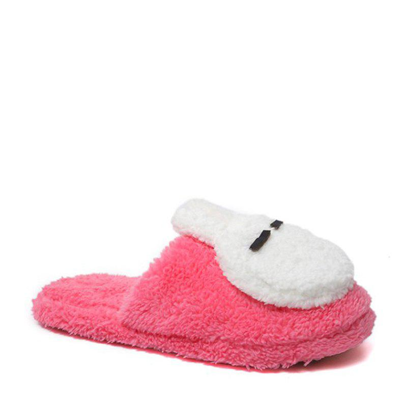New Cute Soft Bottom Anti Slip Home Cotton Slippers - WATERMELON RED 39