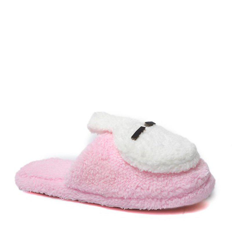 New Cute Soft Bottom Anti Slip Home Cotton Slippers - PINK 38