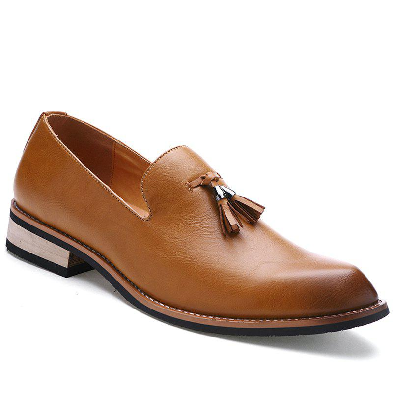 Fashion Genuine Leather Men Formal Casual Business Wedding Shoes BROWN