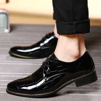Hommes Business Gentle robe de mariage officiel britannique Casual Shoes - Noir 43