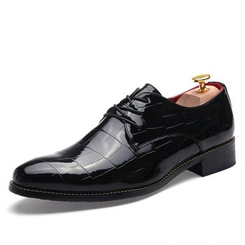 Hommes Business Gentle robe de mariage officiel britannique Casual Shoes - Noir 41