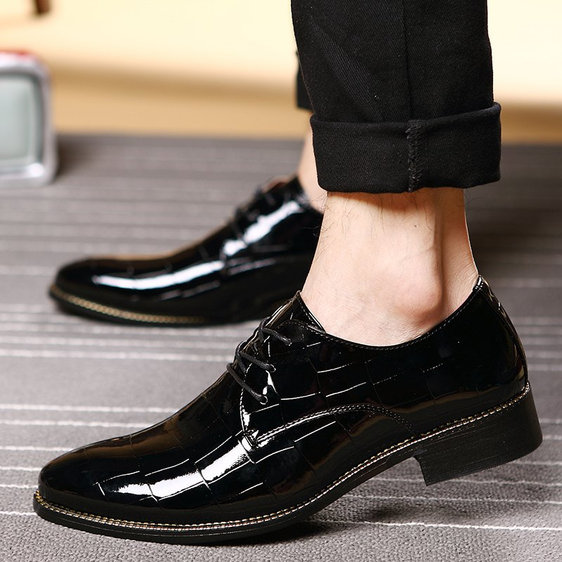 Hommes Business Gentle robe de mariage officiel britannique Casual Shoes - Noir 39