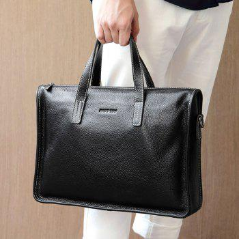 HAUT TON 14 Inch Laptop Briefcase Business Office for Men Multi-functional Shoulder Messenger Bag - BLACK BLACK