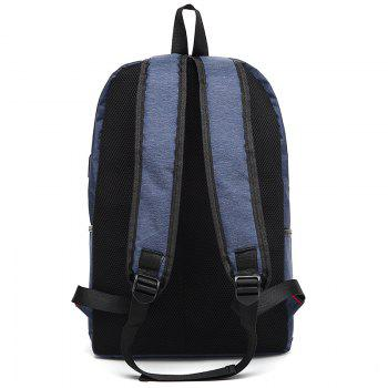 AUGUR Design Backpacks Multifunction USB Charging Men  Casual Travel Teenager Student School Bags - BLUE