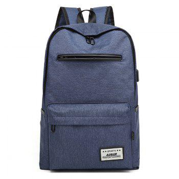 AUGUR Design Backpacks Multifunction USB Charging Men  Casual Travel Teenager Student School Bags - BLUE BLUE