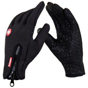 Pair of Winter Riding Gloves Fleece Trap Thermal Touch Screen Handwear