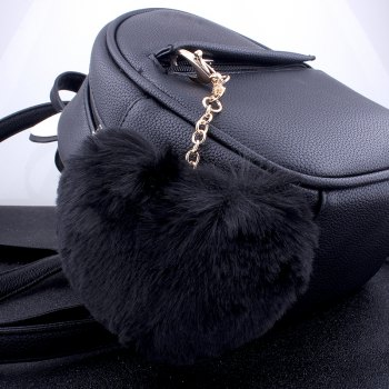 Love Plush Multi-style Girls Bag Pendant Accessories Key Ring - BLACK
