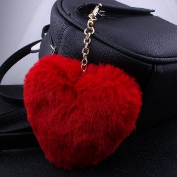 Love Plush Multi-style Girls Bag Pendant Accessories Key Ring - RED