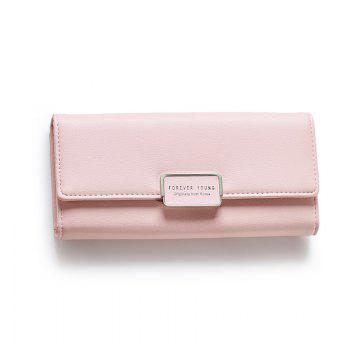 Fashion Women Wallet Clutch Purse Female Long Leather Ladies Holder Money Bag -  PINK
