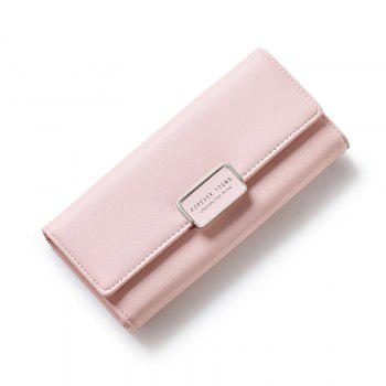 Fashion Women Wallet Clutch Purse Female Long Leather Ladies Holder Money Bag - PINK PINK