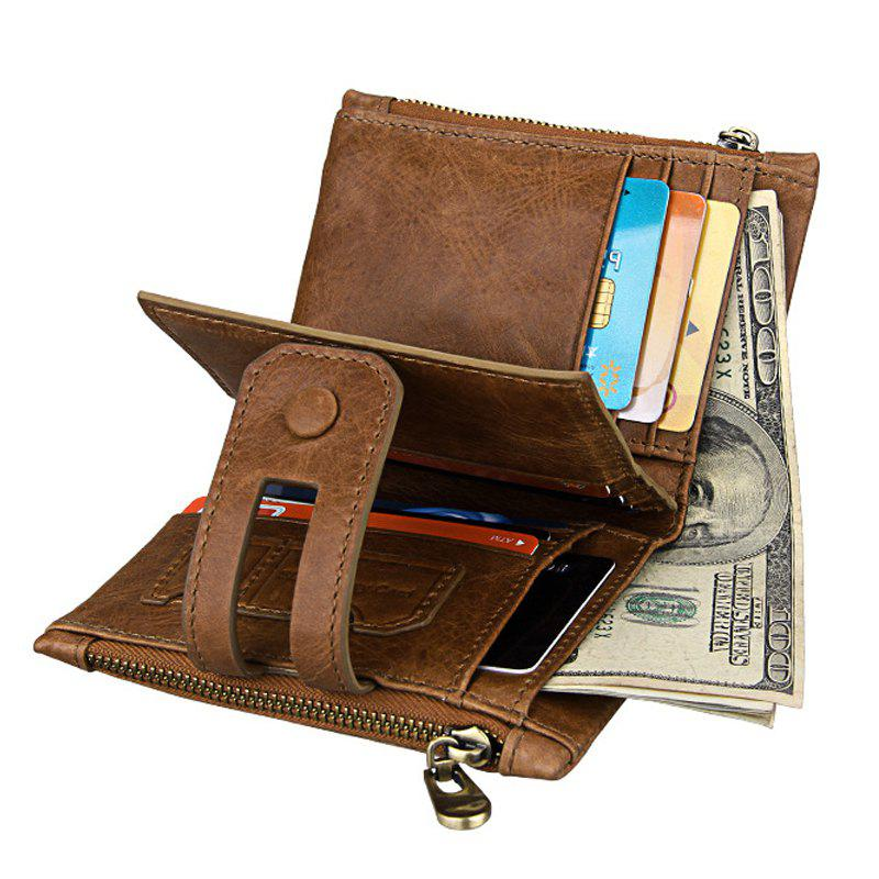 2018 Short Genuine Leather Cowhide Men Wallet Business Card Coin ...
