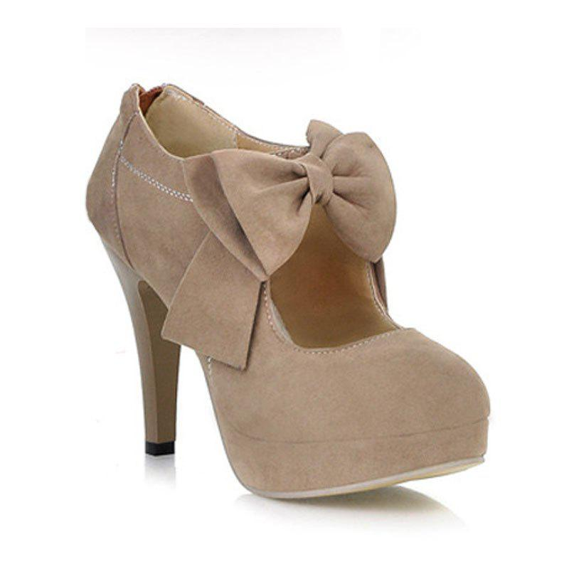 Women Bowtie Zip Wedding Party Style High Heels Female Fashion Sexy Autumn Pumps Ladies Platform Black Plus Size Shoes женское платье 2015 crewneck 5 6601