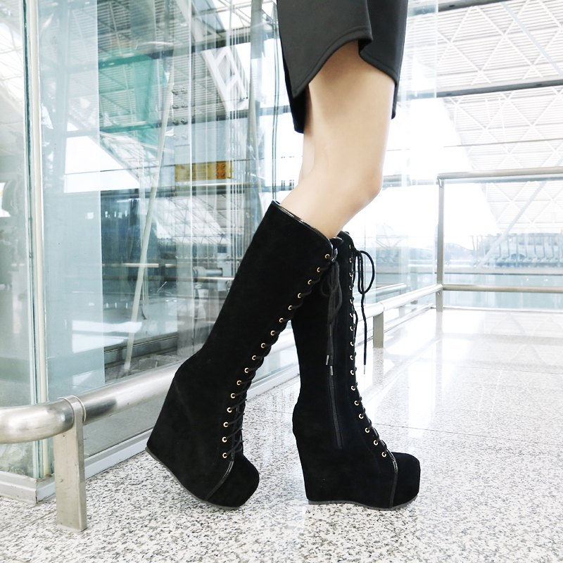New Lace Ups and Boots in Autumn and Winter - BLACK 37