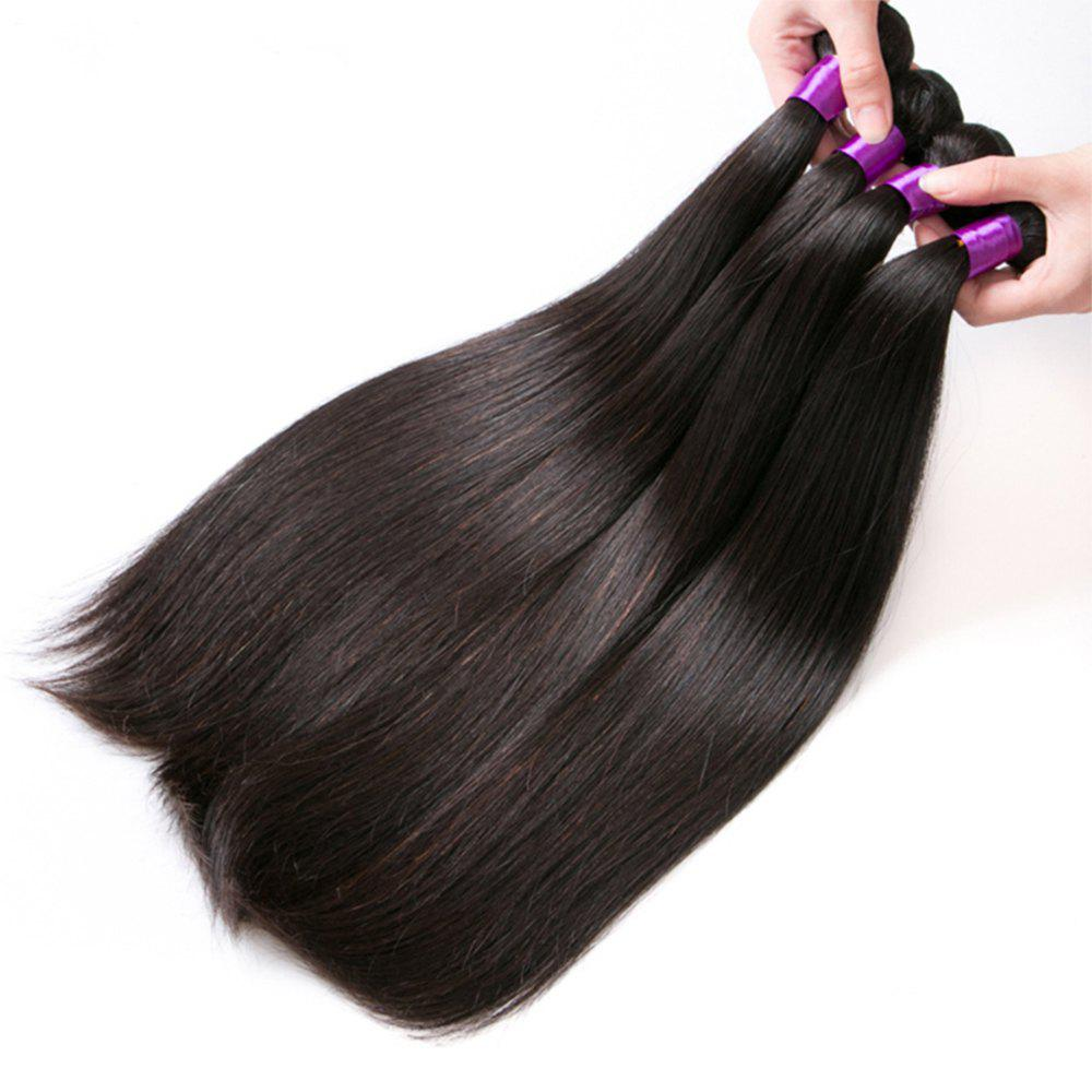 Brazilian Human Hair Remy Extension Weaving 10 - 28inch - NATURAL COLOR 24INCH