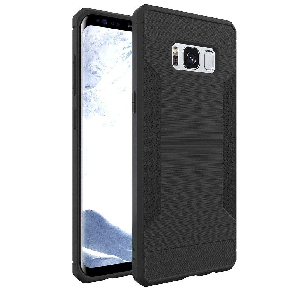 Voor for Samsung Galaxy S8 Telefoon Gevallen Luxe Business Carbon Fiber Soft TPU Ontwerp Cover Case - GRAY