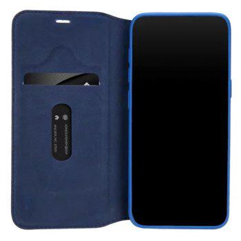 PU Leather Flip Wallet Card Case for Samsung Galaxy S8 - BLUE