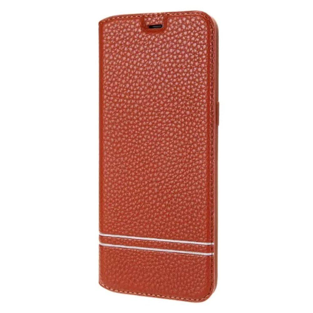 PU Leather Flip Wallet Card Case for Samsung Galaxy S8 - BROWN