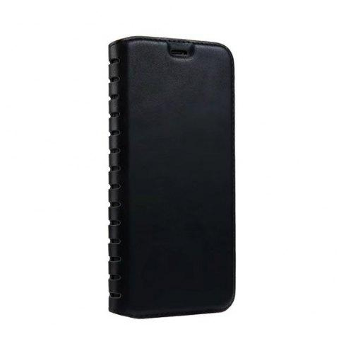 Luxury PU Leather Flip Card Case For IPhone X - BLACK