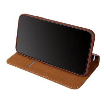 Luxury PU Leather Flip Card Case For IPhone X - BROWN