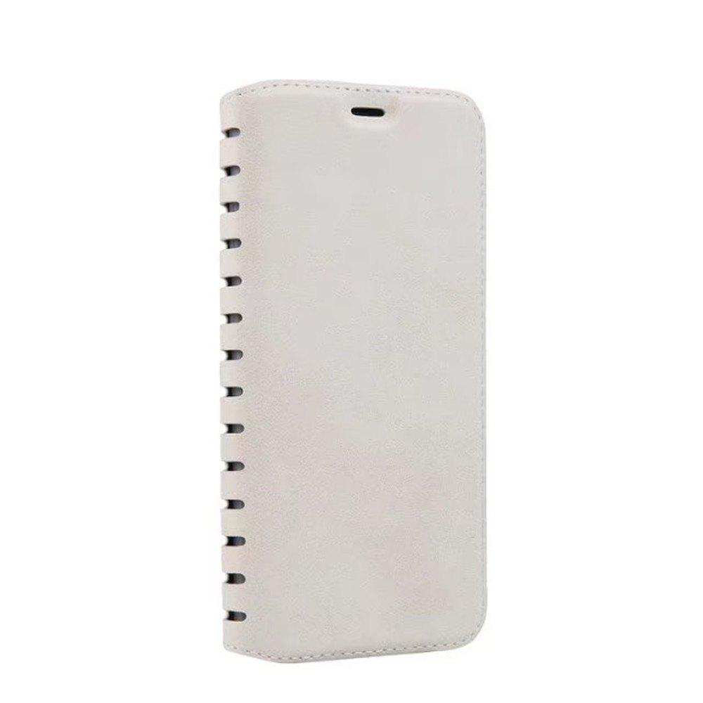 Luxury PU Leather Flip Card Case For IPhone X - WHITE