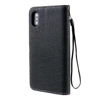 Restoring Ancient Ways PU Leather Flip Card Case For IPhone X - BLACK
